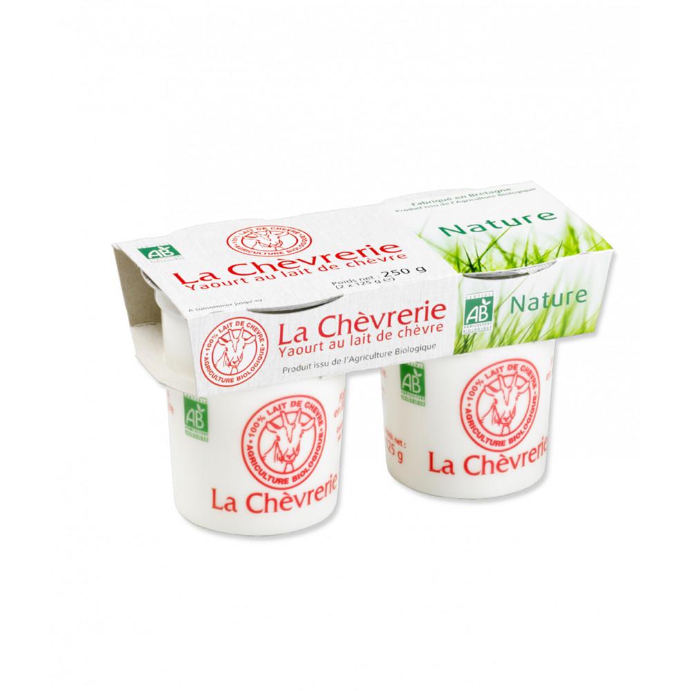 Yaourt lait de ch vre produit frais bio course en - Yaourt maison lait de chevre ...
