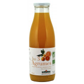 Jus de fruits bio aux 3 agrumes 75cl