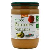 Purée pommes bananes sans sucres ajoutés en pot de 630g
