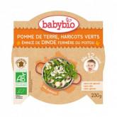 Menu pommes de terre, haricots verts, dinde dès 12 mois