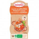 Bols mijoté de légumes, poulet fermier du Poitou et quinoa