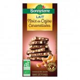 Chocolat lait noix de cajou caramel 85gr