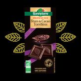 Chocolat noir éclats fèves - 100g