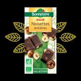 Chocolat noir noisettes entières Bonneterre - 100g