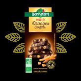 Chocolat noir oranges confites Bonneterre - 100g