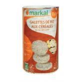 Galettes de riz aux trois céréales biologiques - 100g