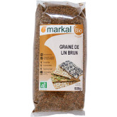 Graines de lin brun bio en sachet de 500g
