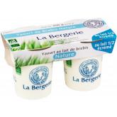 Yaourt nature au lait de brebis demi écrémé - 2x125g