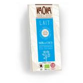 Tablette de chocolat au lait bio et noix de coco