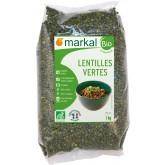 Lentilles vertes bio 1kg