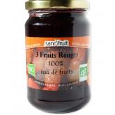 Purée de fruits bio aux fruits rouges