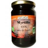 Purée de fruits bio à la myrtille