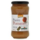 Purée pommes cannelle sans sucres ajoutés en pot de 360g