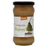 Purée pommes poires sans sucres ajoutés en pot de 360g