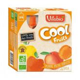 Cool fruit pomme pêche abricot - 4x90g