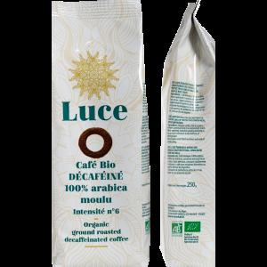 Café 100% arabica moulu deca bio - 250 g