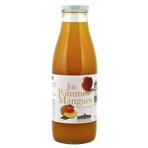 Jus de fruits bio à la pomme et la mangue