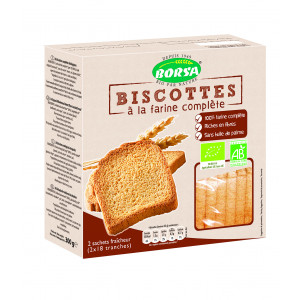 Biscottes bio à la farine complète