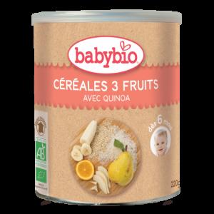 Céréales aux 3 fruits - 220g