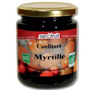 Confiture bio à la myrtille - 320g
