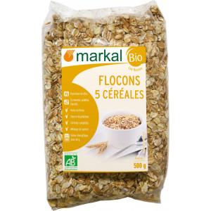 Flocons 5 céréales biologiques - 500g