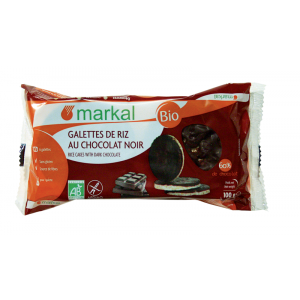 Galettes de riz bio chocolat noir - 100g