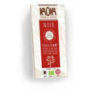 Tablette de chocolat noir bio à 75% de cacao Sao Tomé et Principe