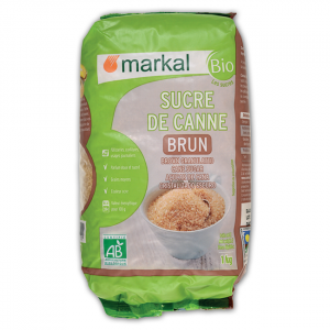Sucre brun de canne bio - 1kg