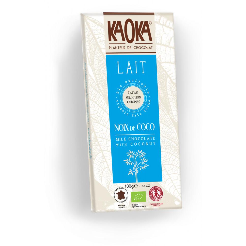 tablette de chocolat au lait bio et noix de coco course en ligne cashbio. Black Bedroom Furniture Sets. Home Design Ideas