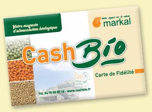 Carte de fidélité du supermarché bio Cashbio
